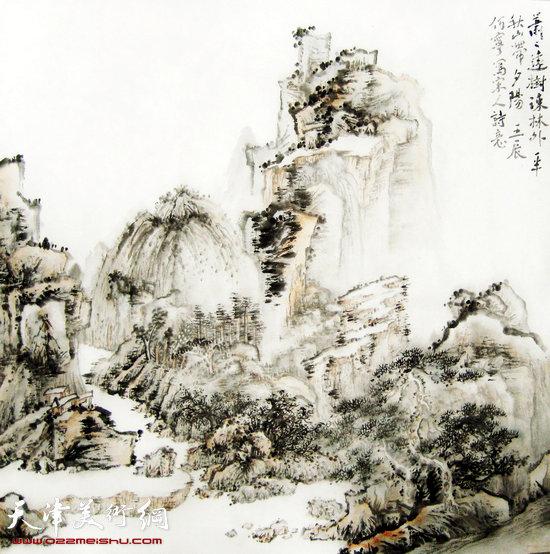 何宁作品:萧萧远树