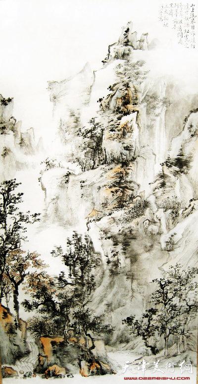 何宁作品:山上流泉