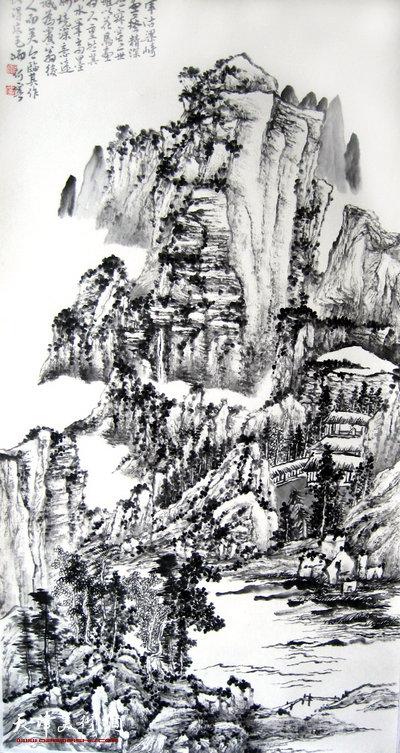 何宁作品:甲申(2004)临梁崎先生山水