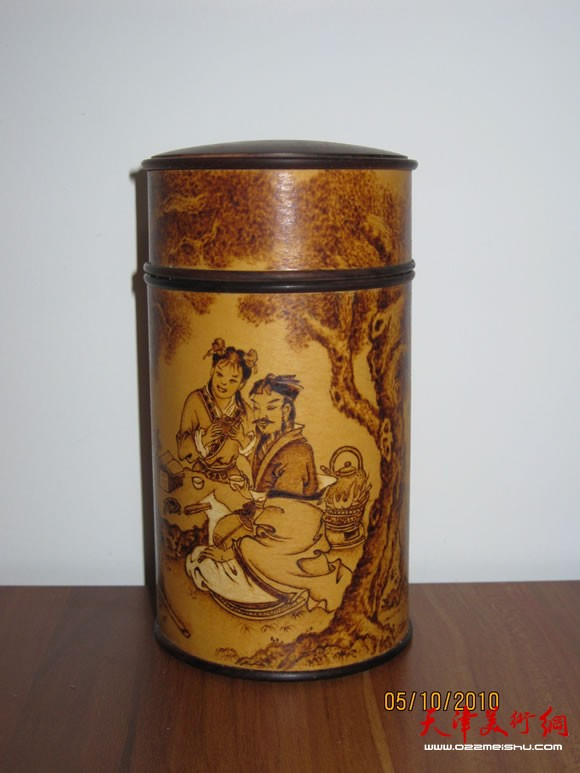 葫芦烙画大师崔志强 丝毛 技法烙虎是我的绝活图片