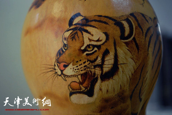 崔志强葫芦烙画作品