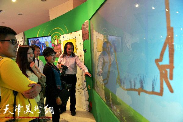 在国家动漫产业综合示范园体验新影像技术