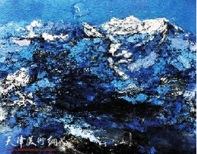 晴雪落苍塬 布面油画图片
