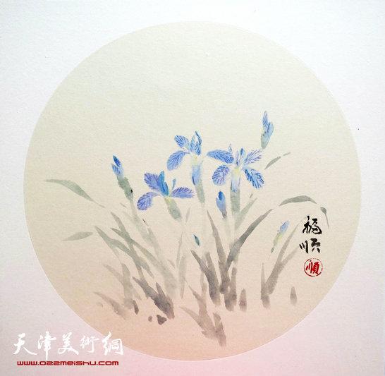 薛福顺作品:《鸢尾花》