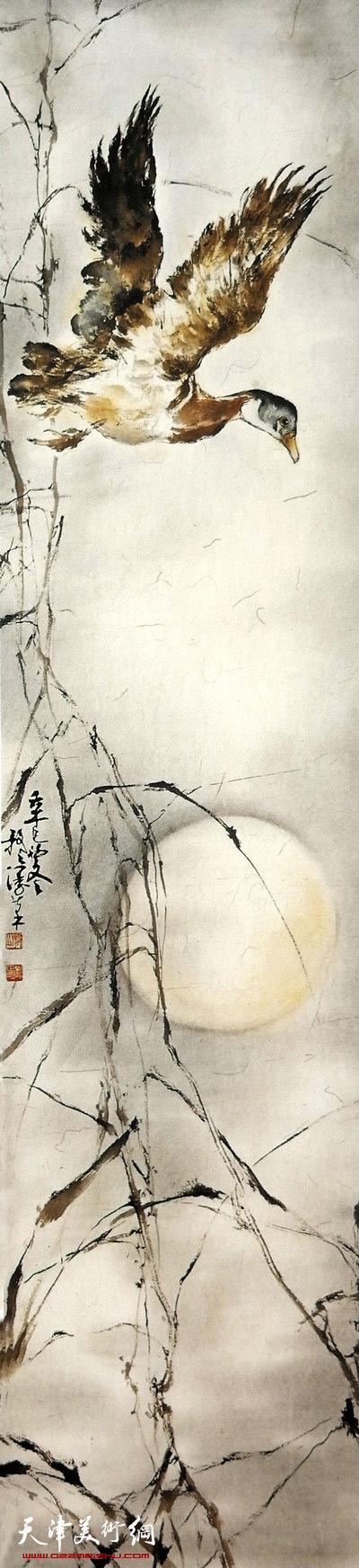 刘正明作品:《飞鸭》