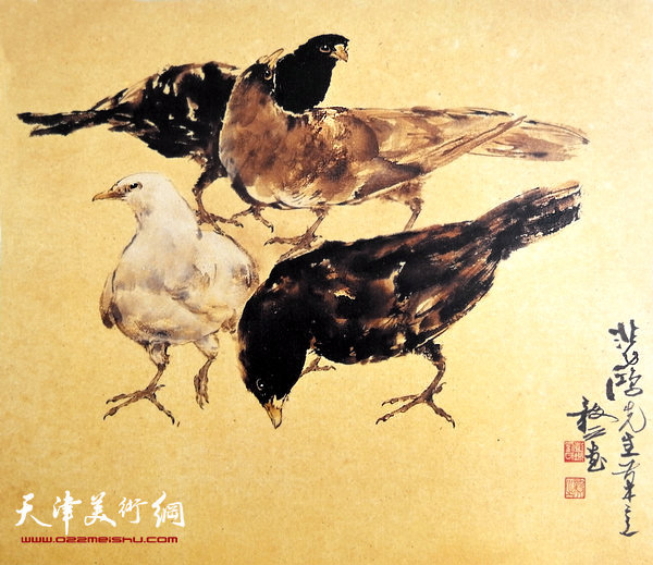 刘正明作品:《悲鸿先生笔意》