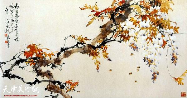 刘正明作品:《紫藤》