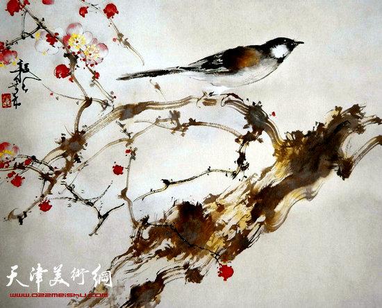 刘正明作品:《花鸟》