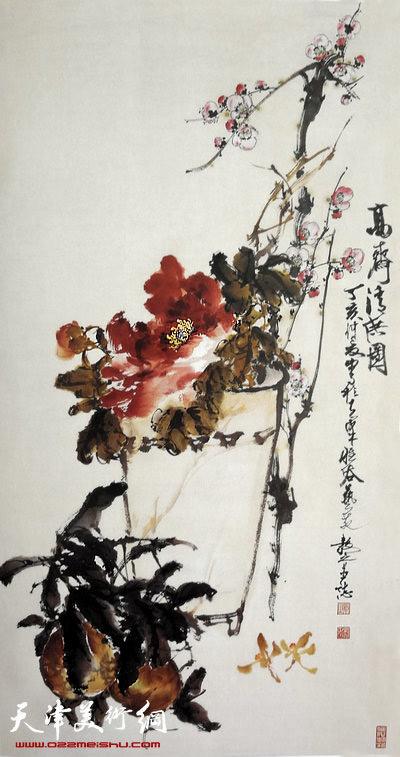 刘正明作品:《清供图》