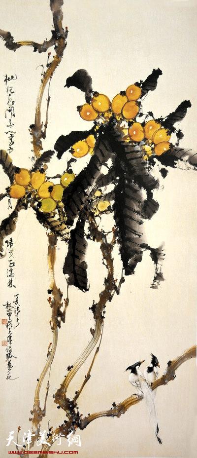 刘正明作品:《五月枇杷正满林》