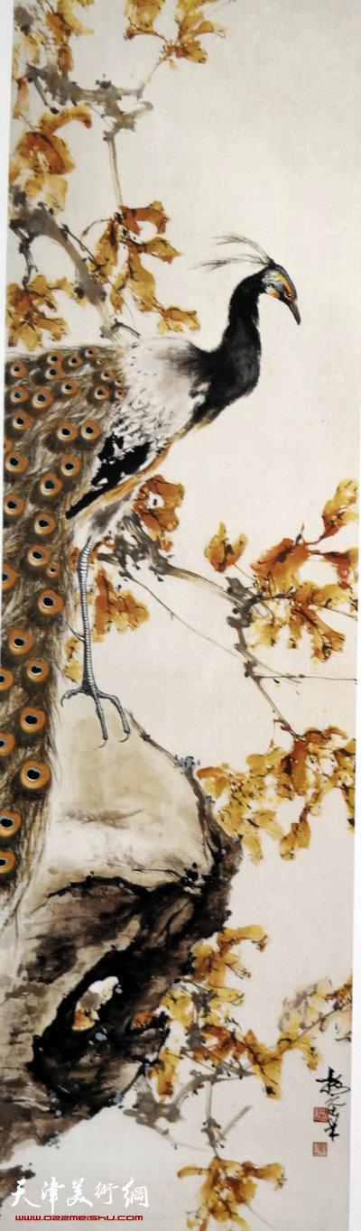 刘正明作品:《翠羽》
