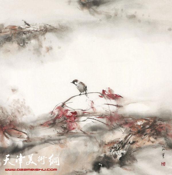 刘文生《秋凉》2014,纸本水墨