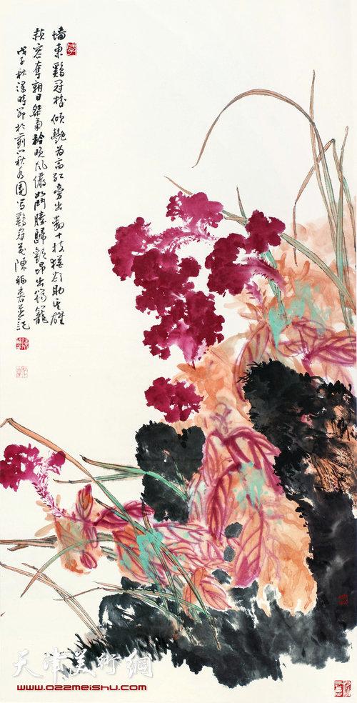 陈福春作品:《鸡冠花》