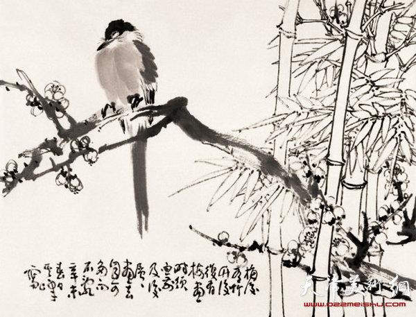 孙其峰作品:梅竹山鹊