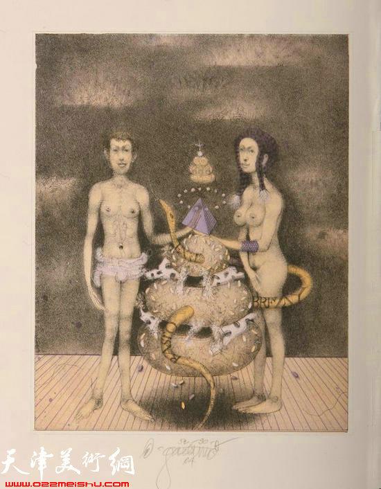 加索维奇版画藏书票