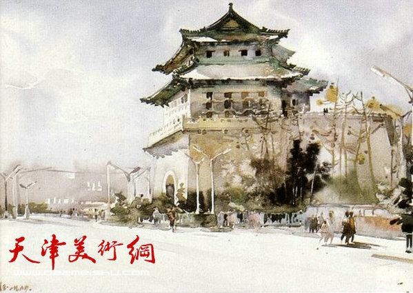 华宜玉:中国顶级女建筑学教授的水彩画