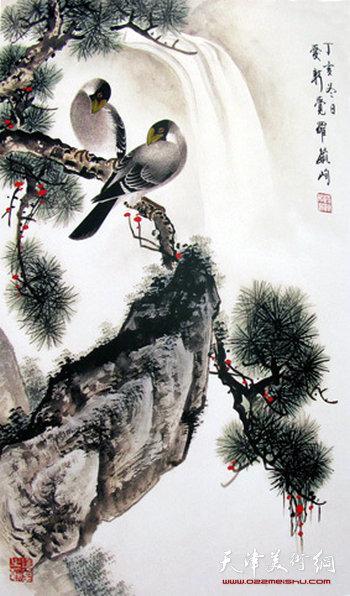 爱新觉罗·毓峋作品:《松鸟图》