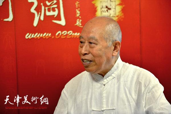 著名画家王俊生做客天津美术网