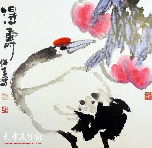 王俊生水墨画:《得寿》