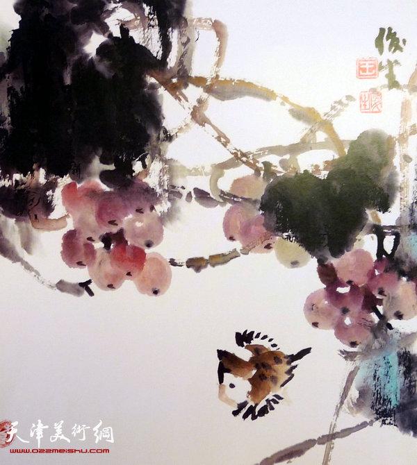 王俊生水墨画:《花鸟》