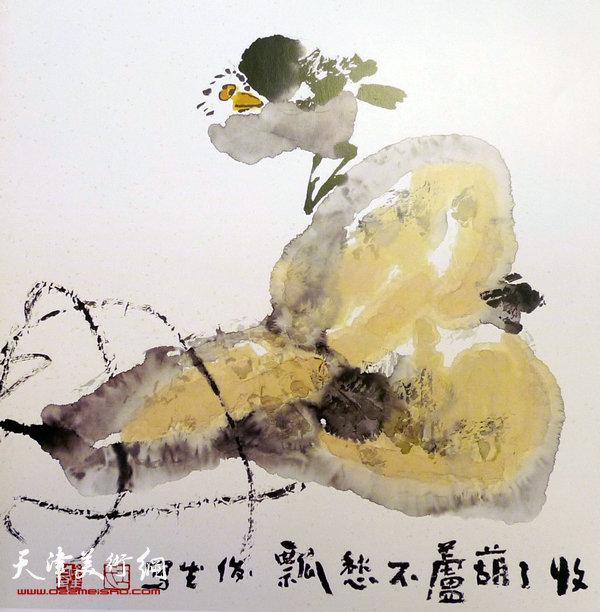 王俊生水墨画:《收了葫芦不愁瓢》