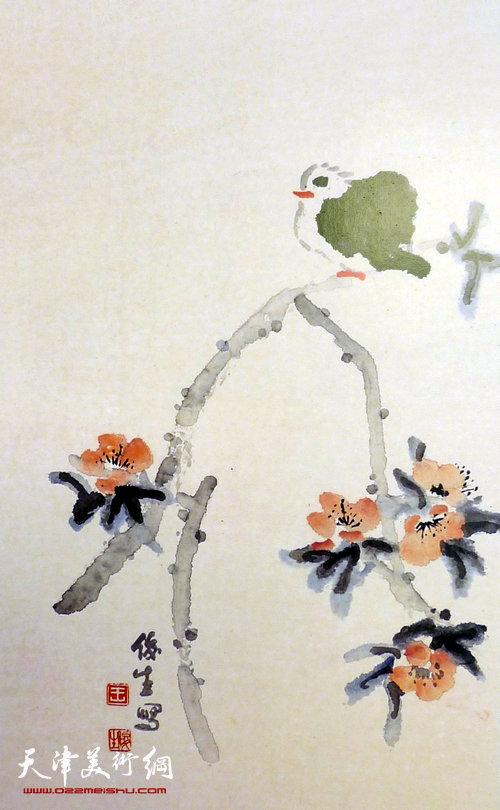 王俊生水墨画:《芳林弄春》