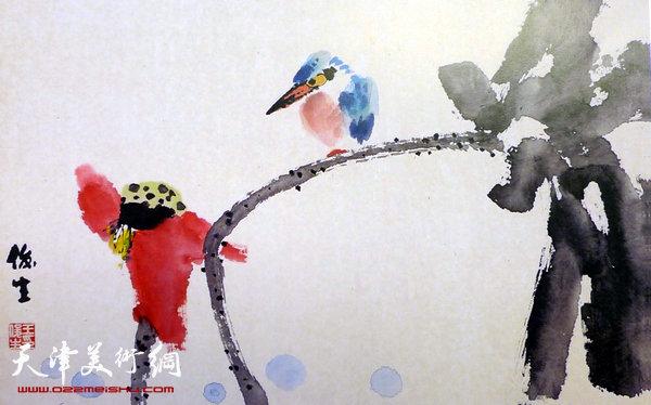 王俊生水墨画:《花 鸟》