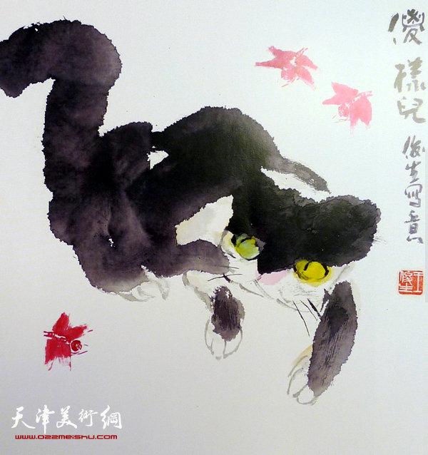 王俊生水墨画:《傻样儿》