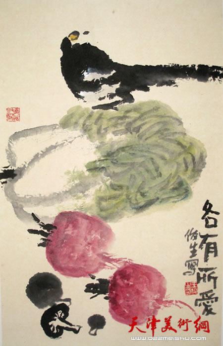 王俊生水墨画:《各有所爱》