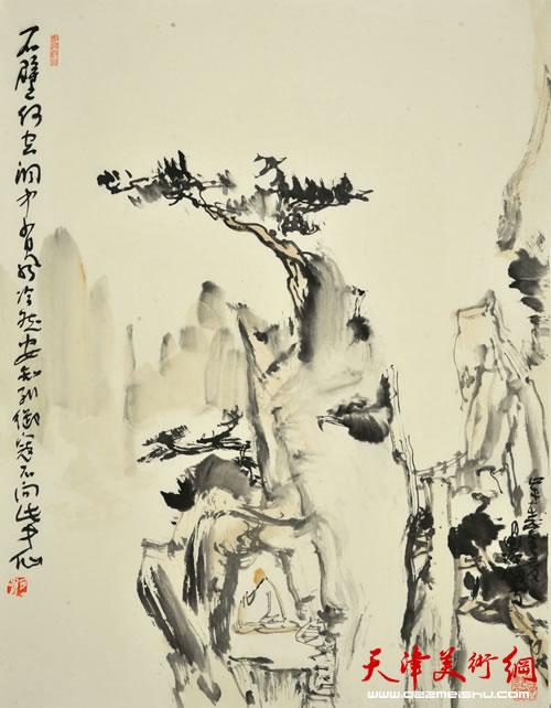 尹沧海作品《安知列御寇,不向此中仙》