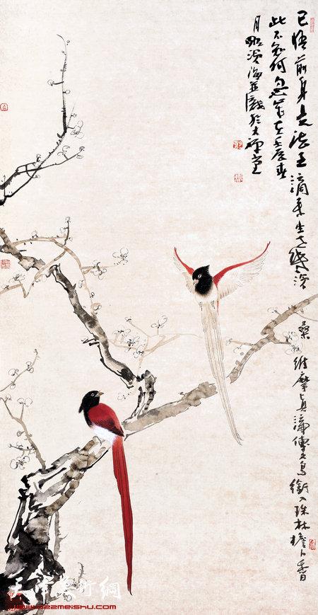 尹沧海作品:《花鸟》