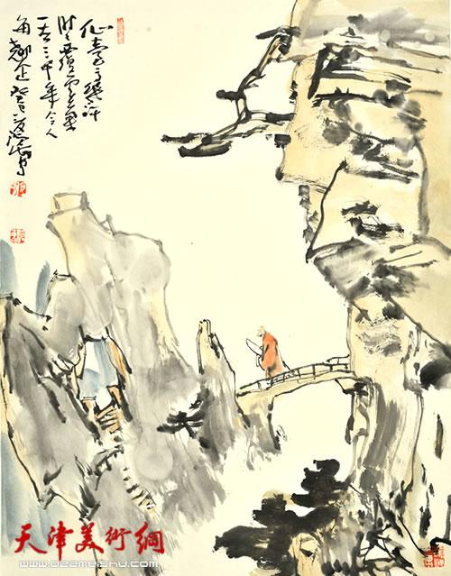 尹沧海作品《仙台高几许》