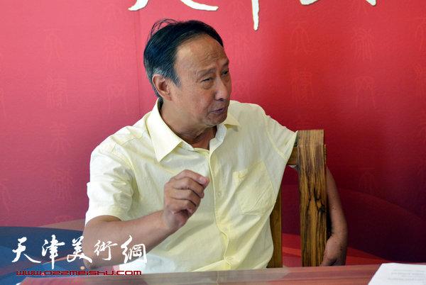 陈幼白做客天津美术网