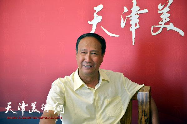 著名画家陈幼白做客天津美术网