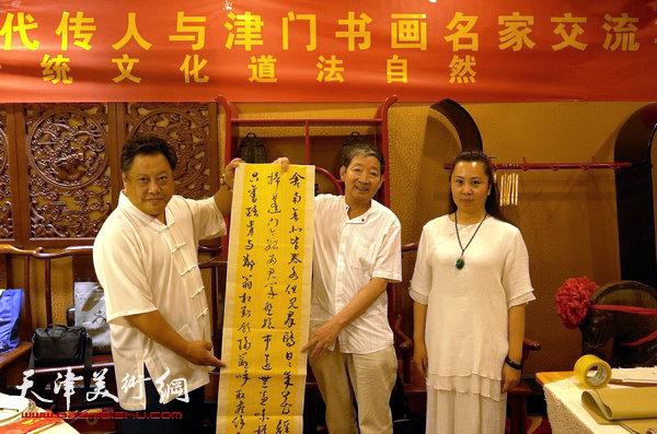 全真吕祖蓬莱十六代传人与津门书画名家笔会举行