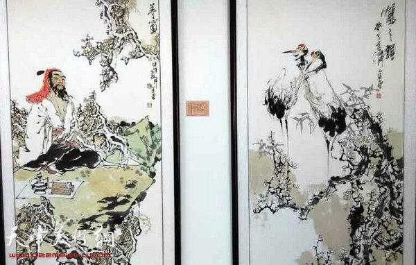 图为张金荣艺术馆展出的作品
