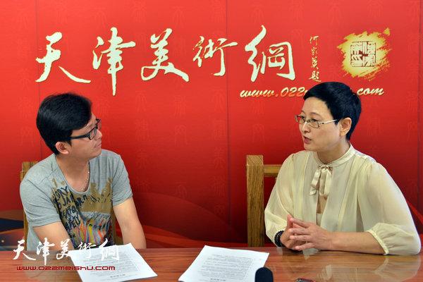 著名书法家郑少英做客天津美术网