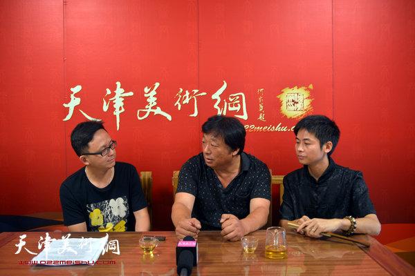 著名画家李大章做客天津美术网