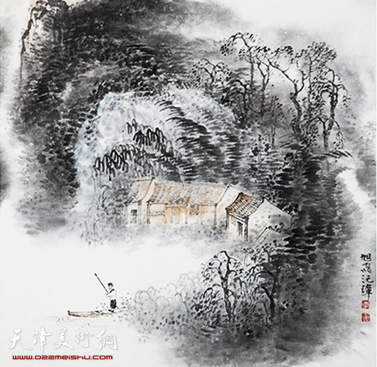 组图:天津市美术作品展开幕