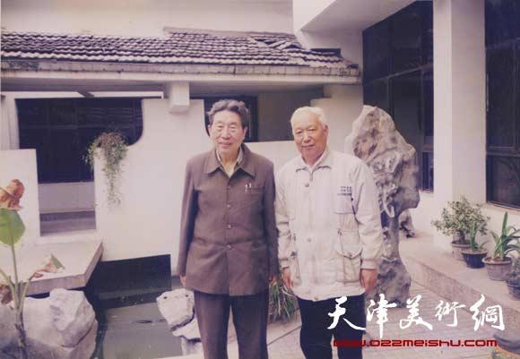 焦俊华与王学仲老师合影