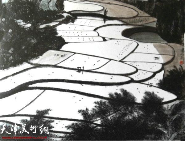 焦俊华山水画作品:《暮蹄》