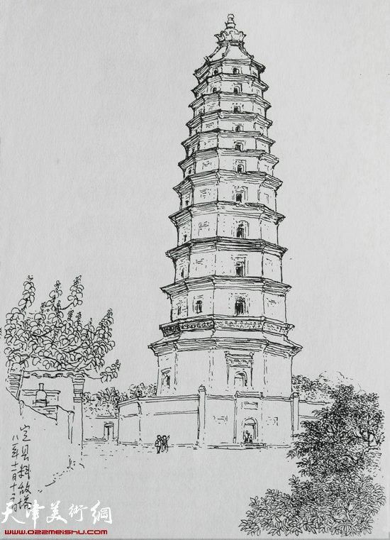 焦俊华作品 中国之塔:《定州料敌塔》