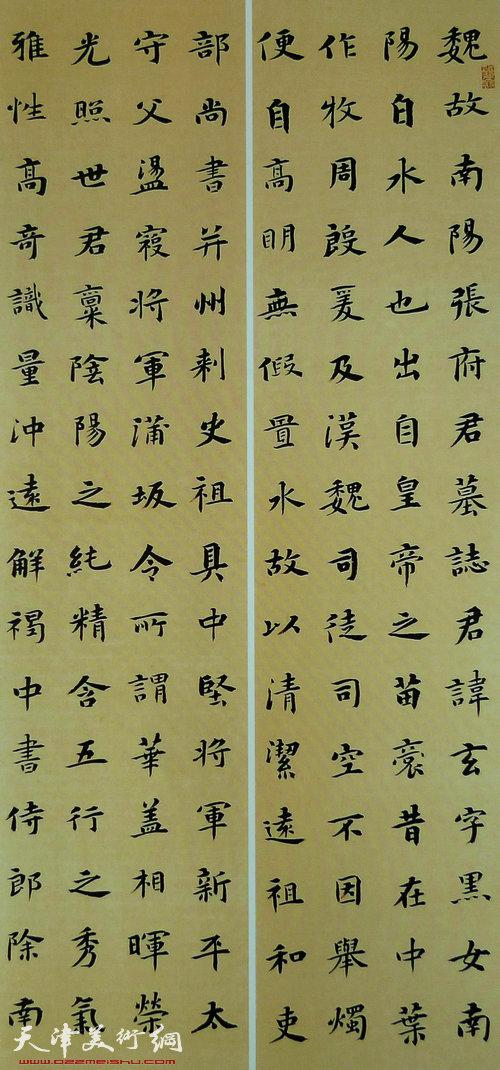 王树秋书法:临张玄墓志