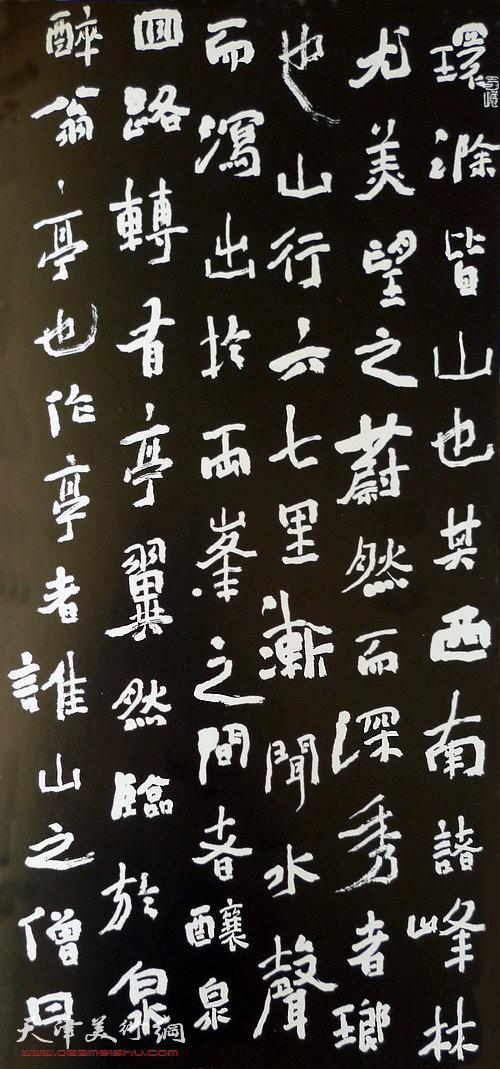 王树秋书法:醉翁亭记(局部)
