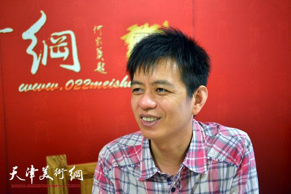 青年画家杨海涛做客天津美术网