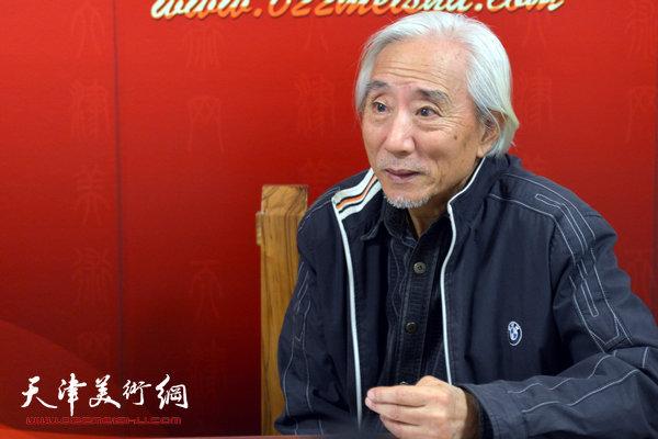 著名画家姚广厚做客天津美术网