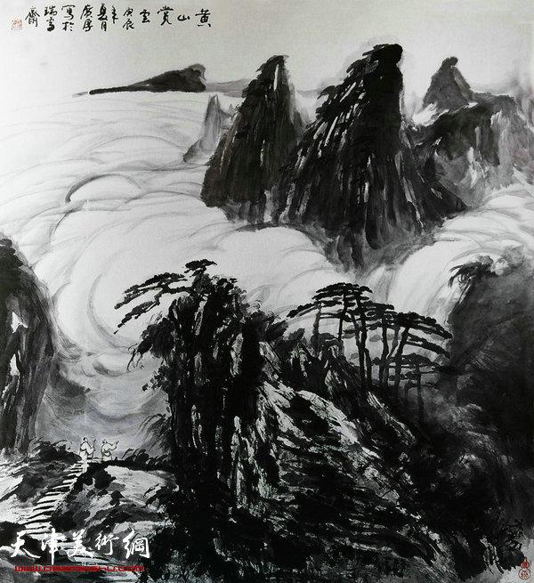 姚广厚山水作品《登山觅诗》