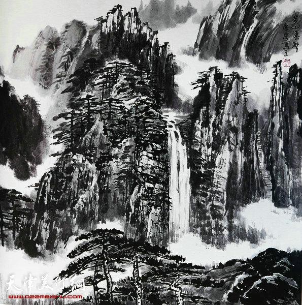 姚广厚山水作品《黄山瀑声》