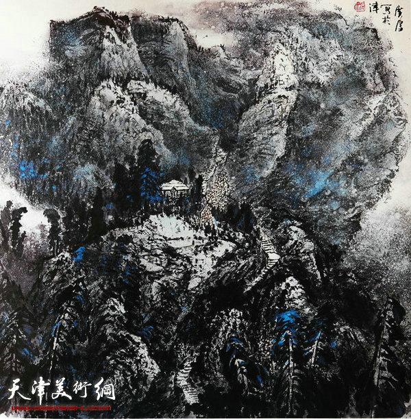 姚广厚山水作品《曲径通幽处》