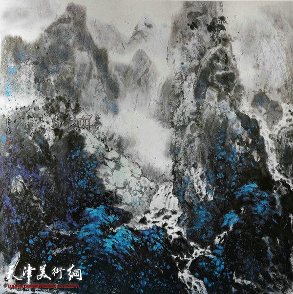 姚广厚山水作品《人间仙境入画屏》